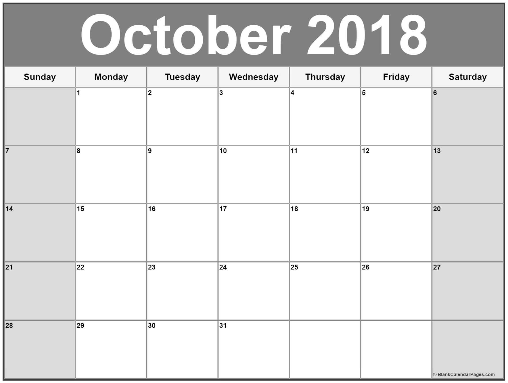 Catch Printable Monthly Calendar Large Boxes