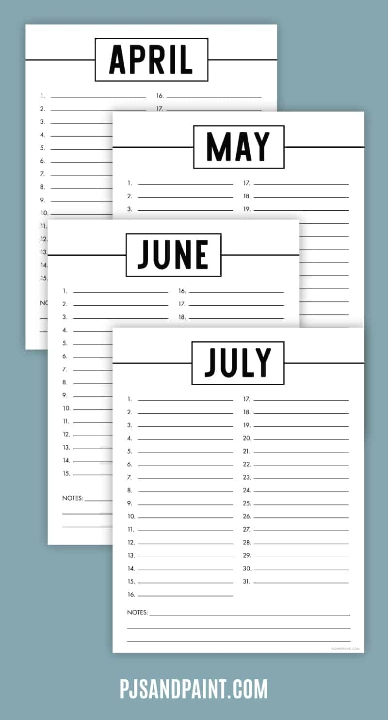 Catch Printable Perpetual Calendar Free