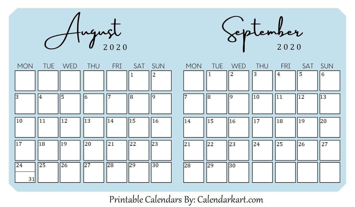 Catch Printable September Calendar With Last Week Of August