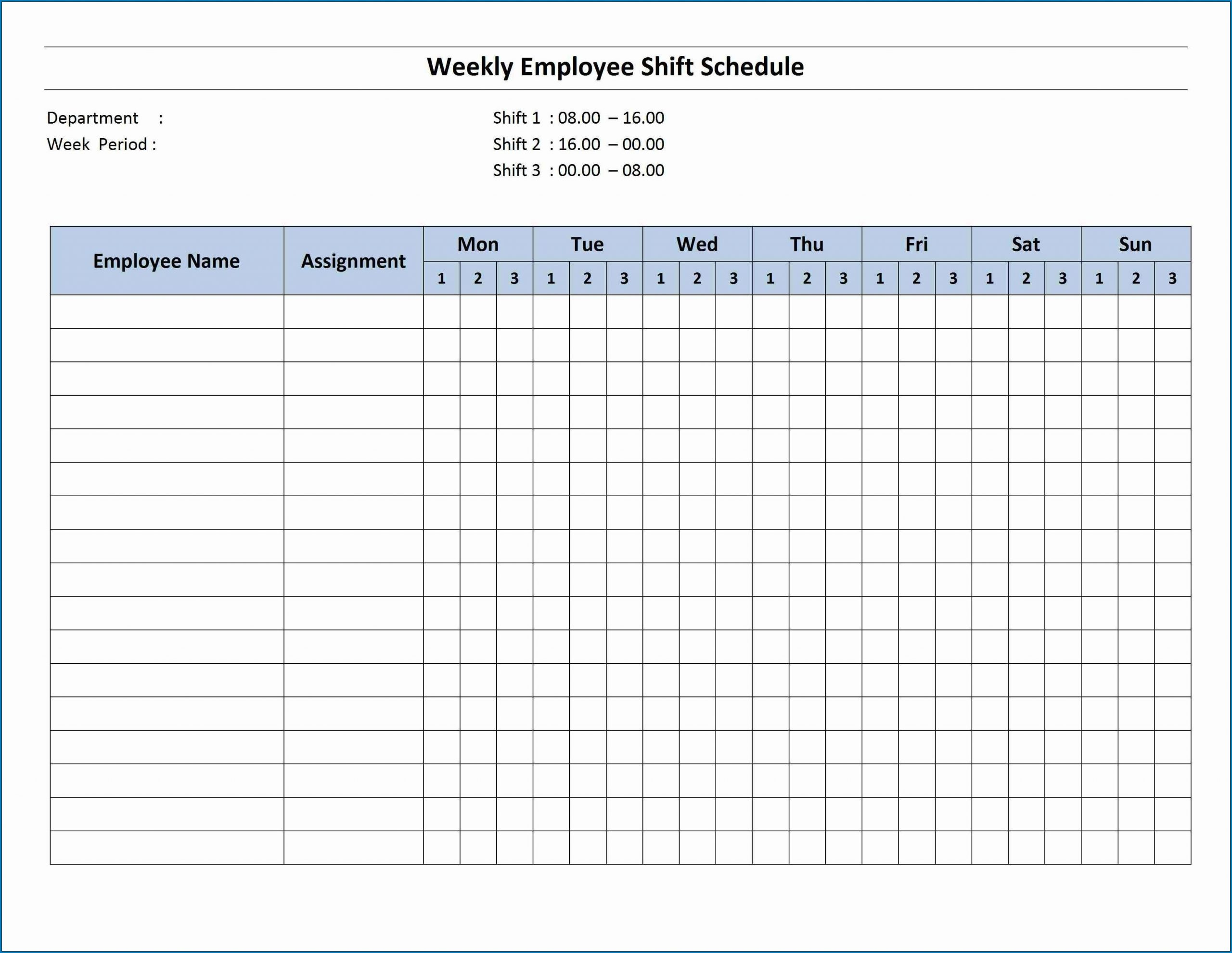 Catch Printable Weekly Work Schedule Templates That Start With Monday