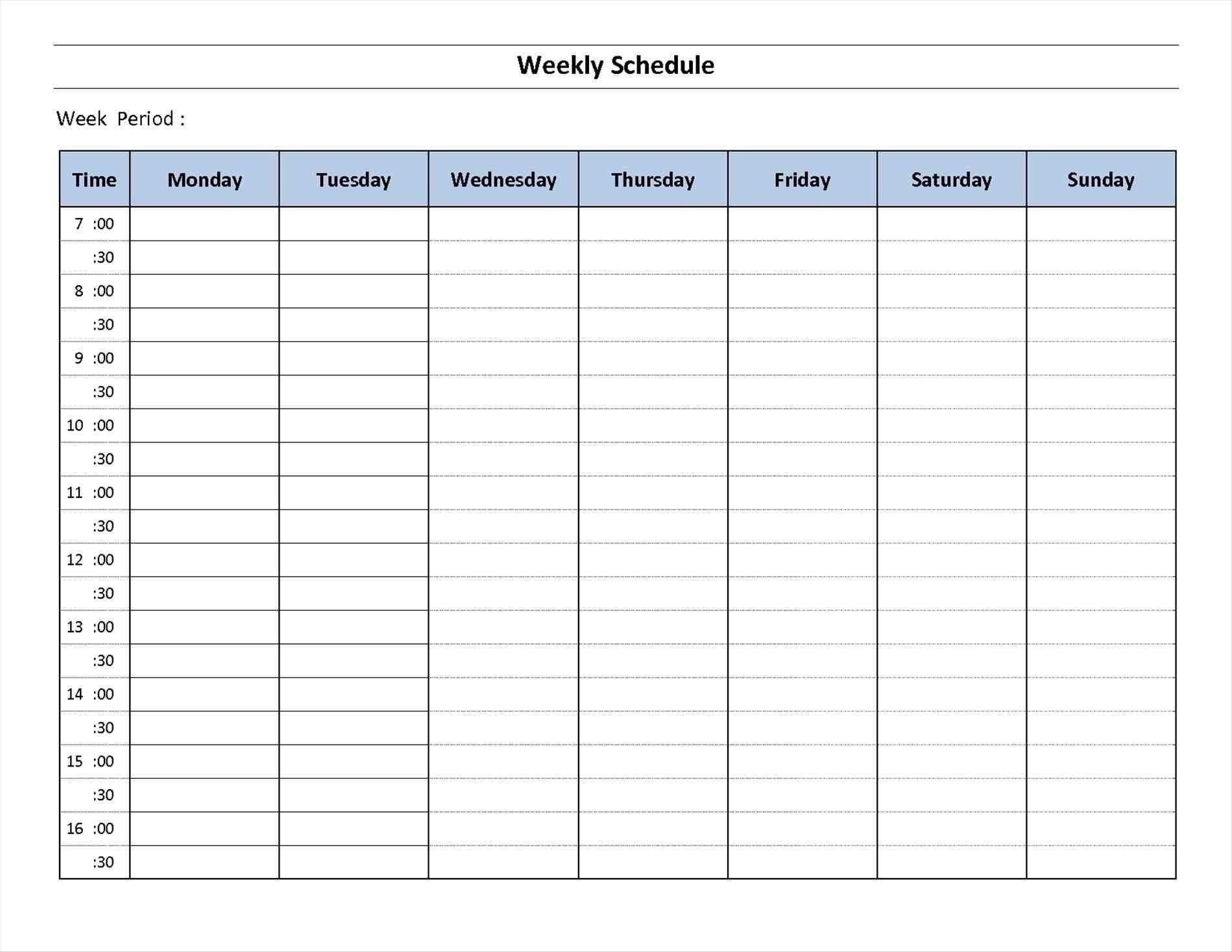 Catch Seven Day Calendar Printable