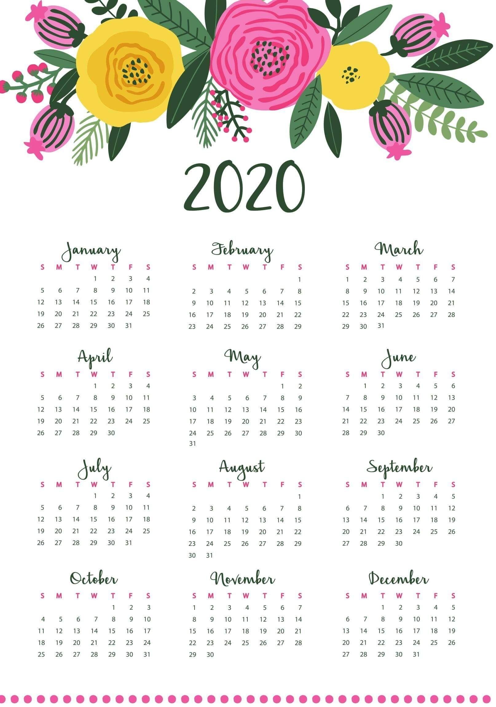 Catch Small Calendar Printable