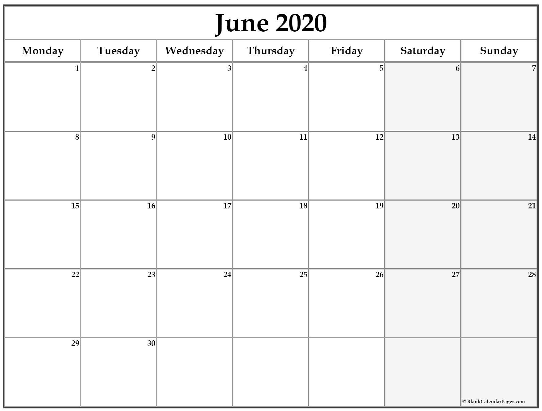Catch Sunday Through Saturday Calendar