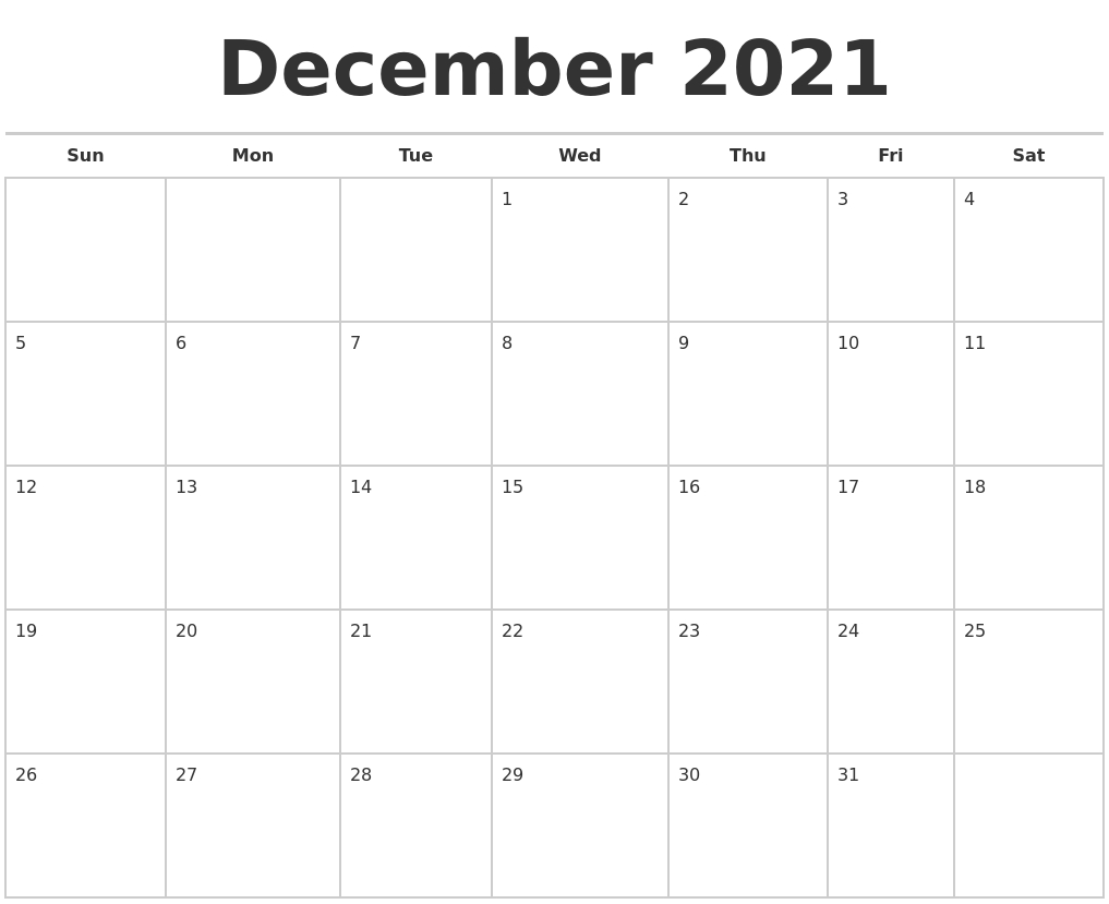 Catch Weekend Calendar December 2021