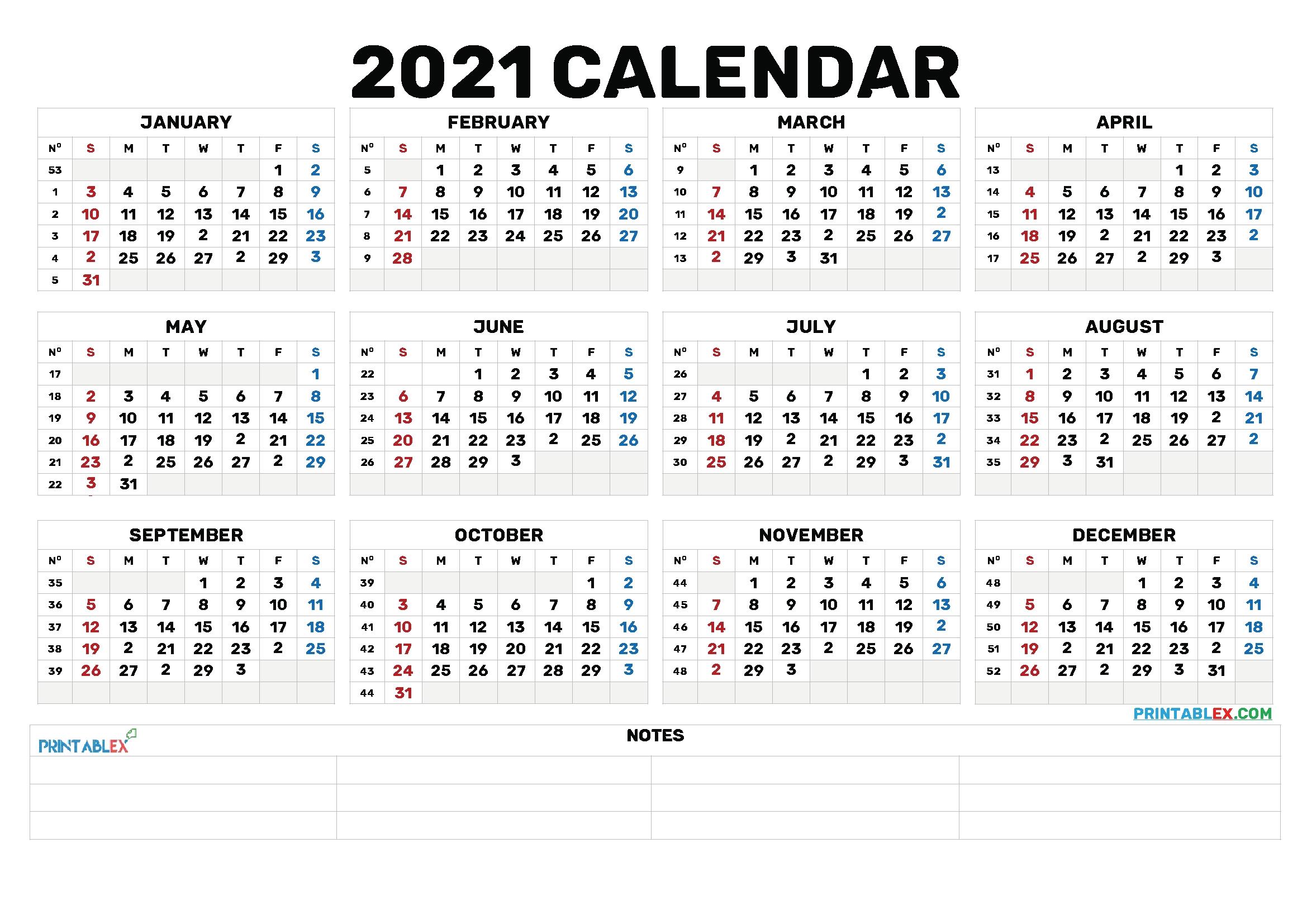 Catch Weekwise Calender 2021