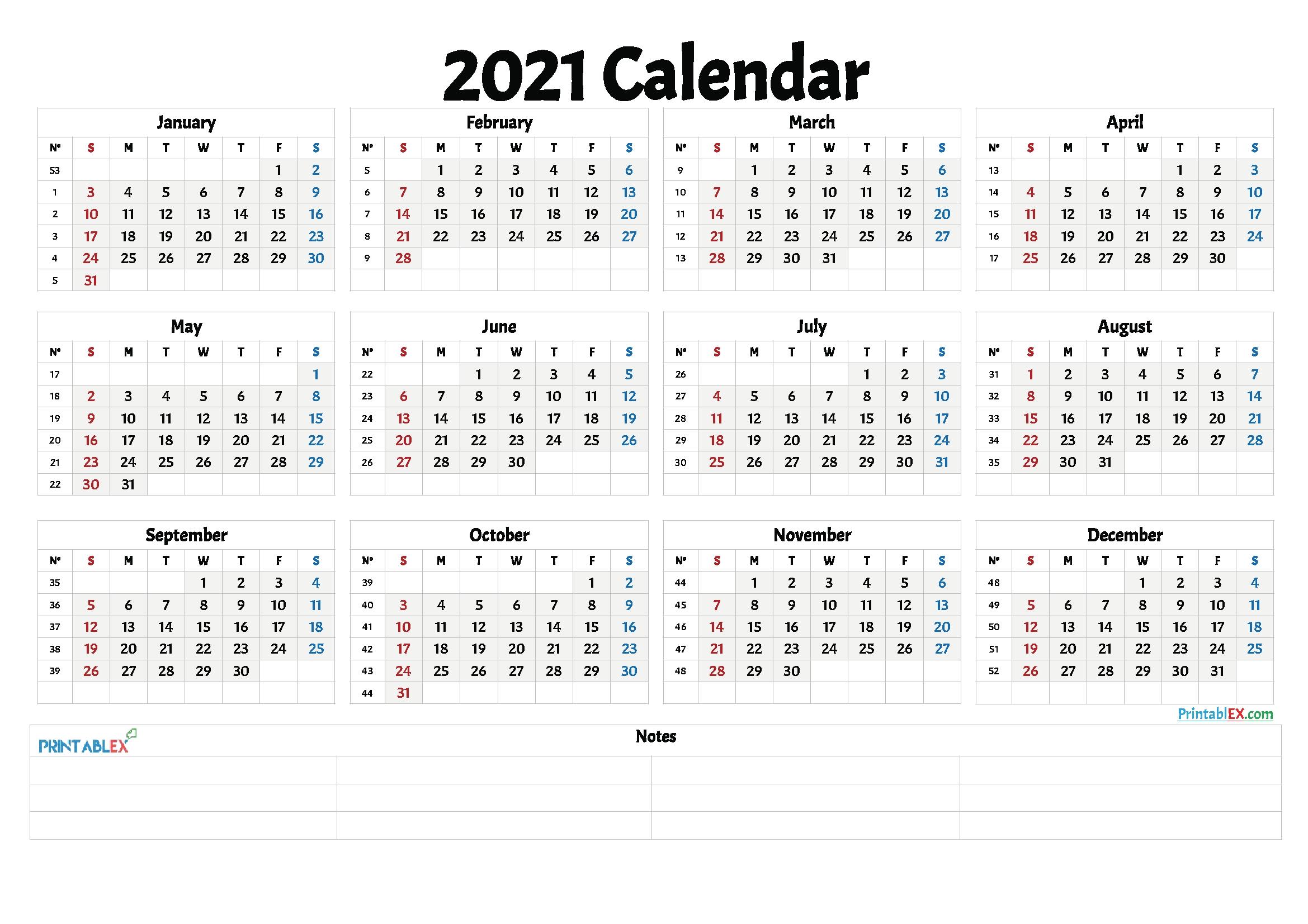 Catch Work Week Calendar 2021