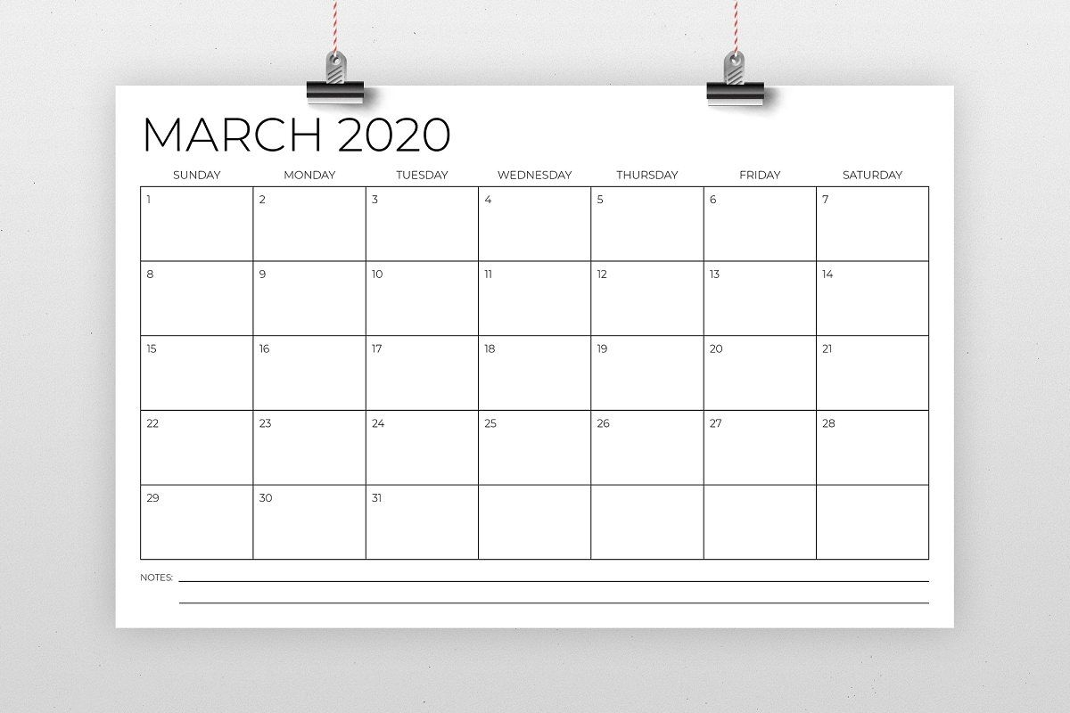 Collect 11X17 Monthly Calendar Printable