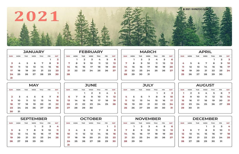 Collect 11X17 Printable Calendar 2021