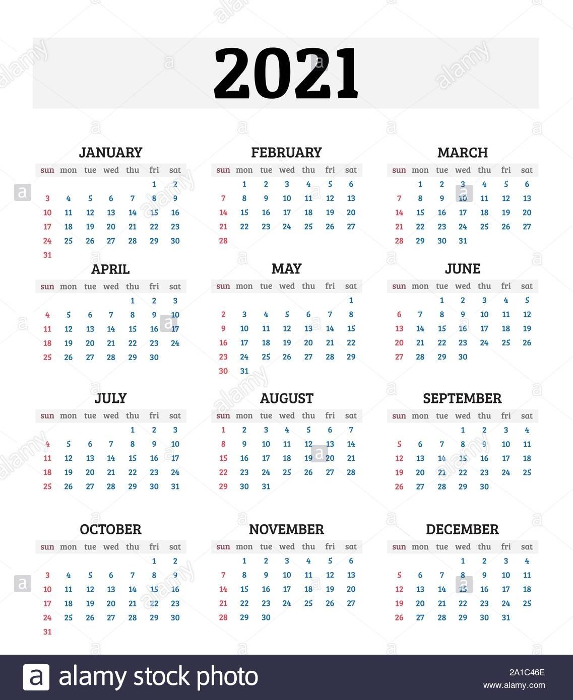 Collect 2021 Annual Calendar
