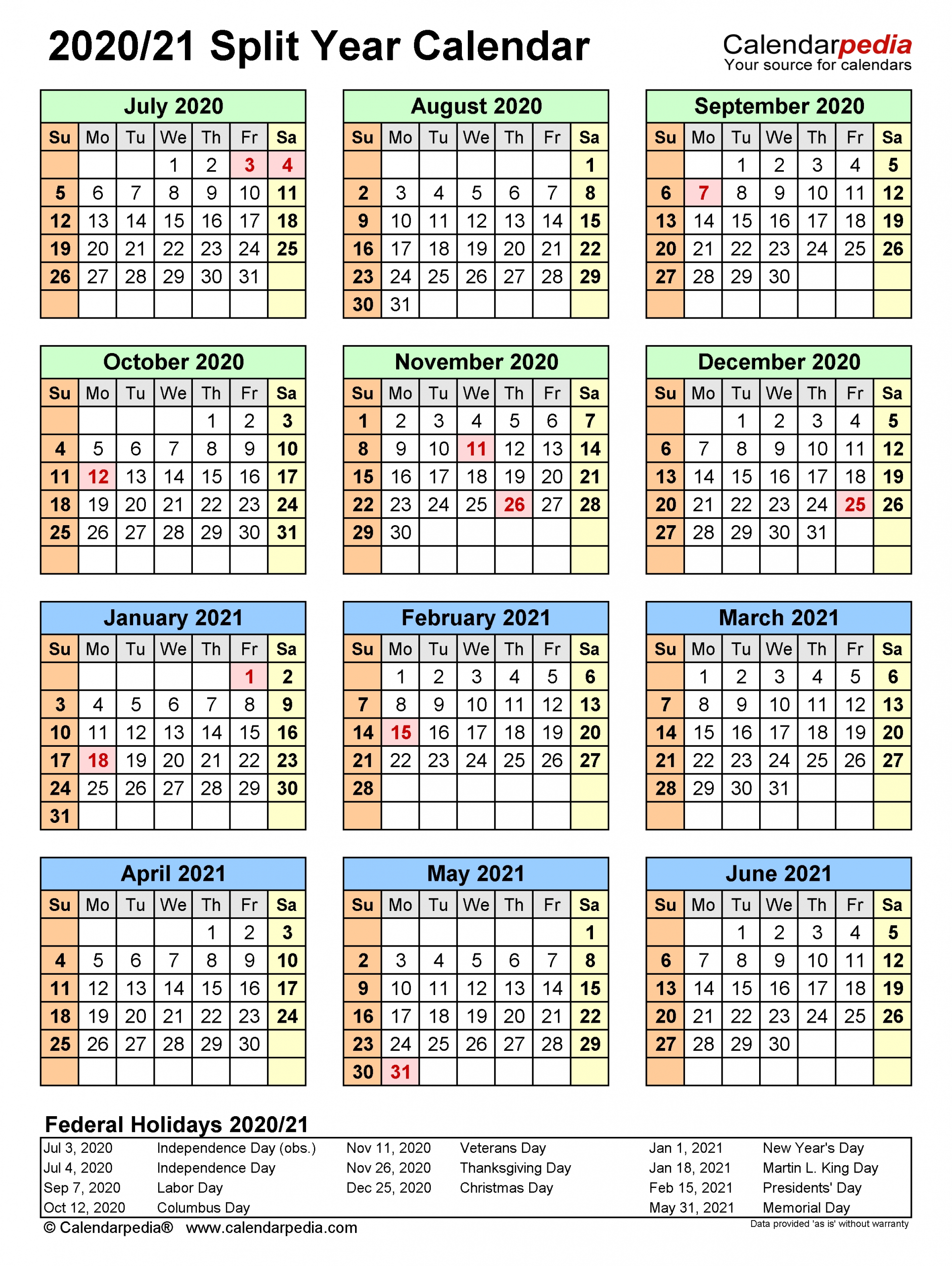 Collect 2021 Calendar Of August Through December
