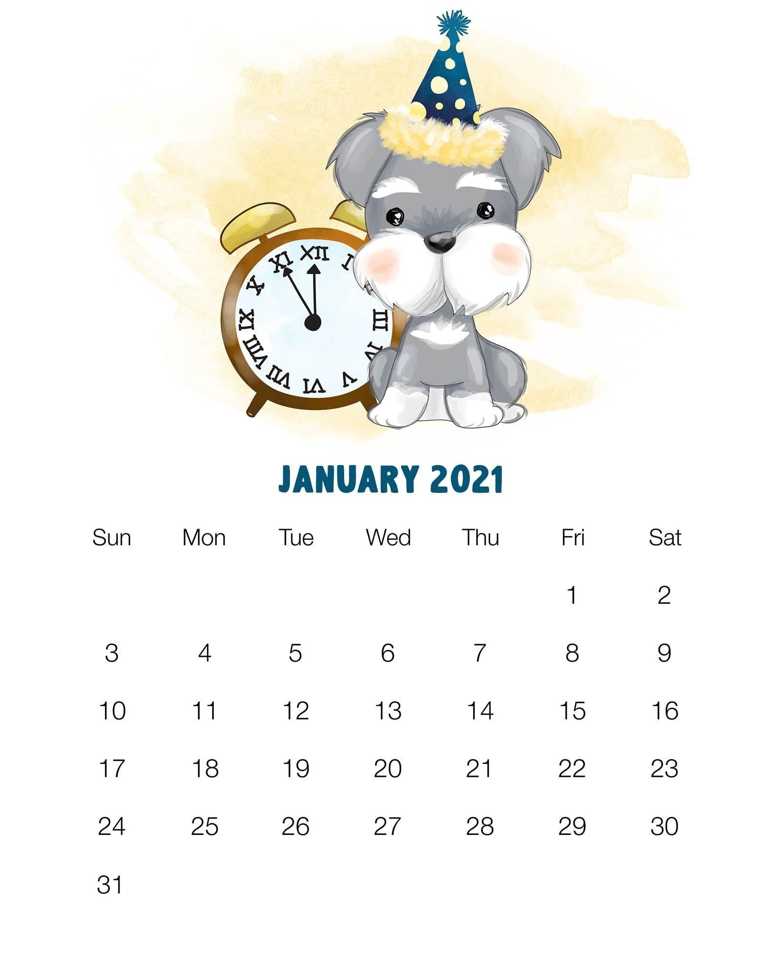 Collect 2021 Calendar Printable Cute