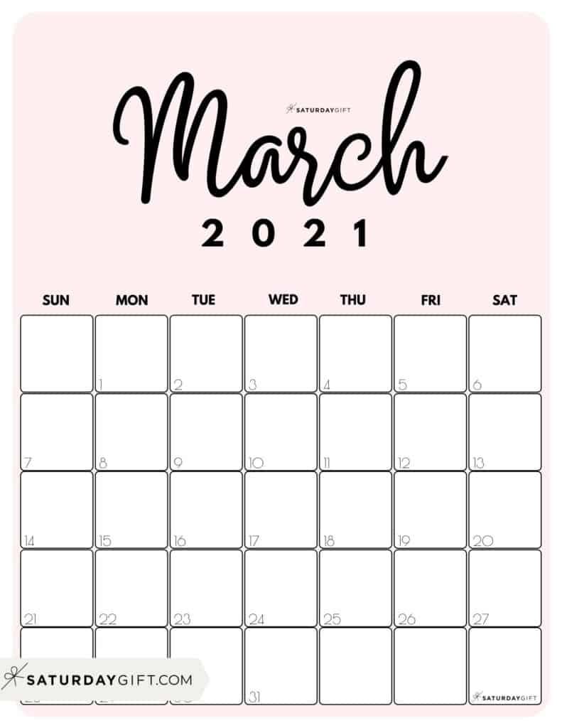 Collect 2021 Cute Calendar Printable Free