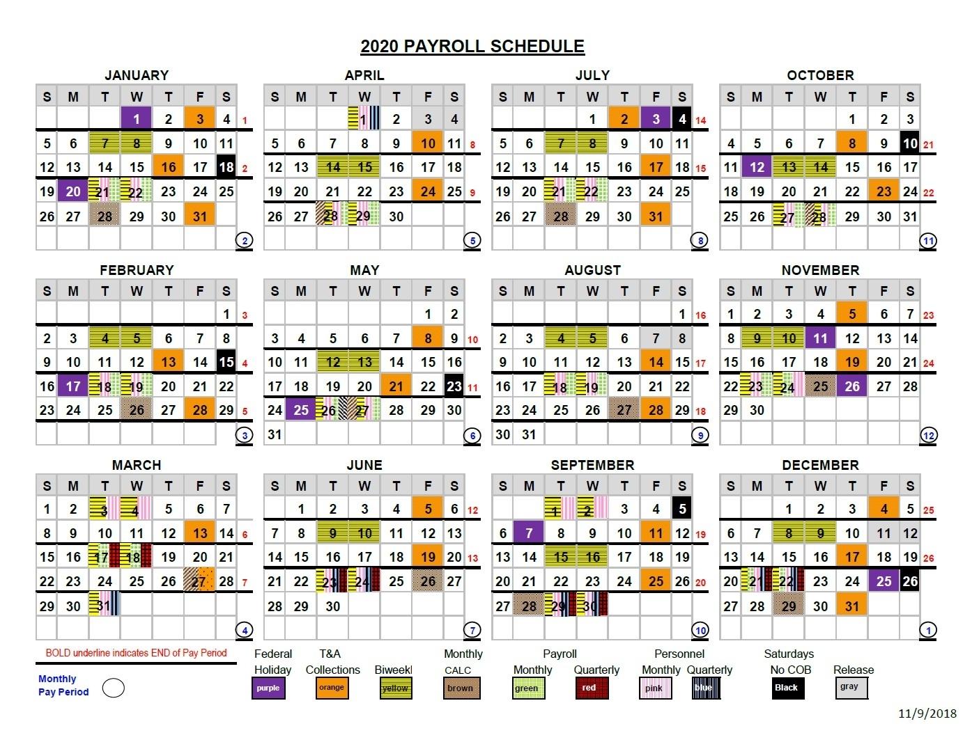 Collect 2021 Federal Pay Period Calendar