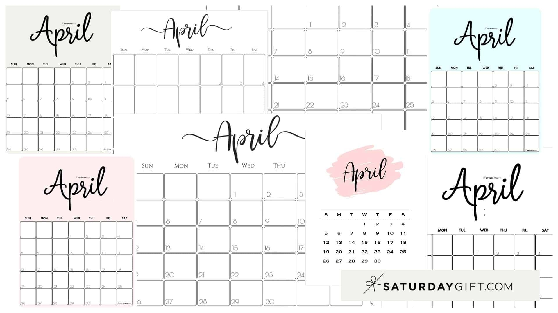 Collect 2021 Printable Calendar Monthly