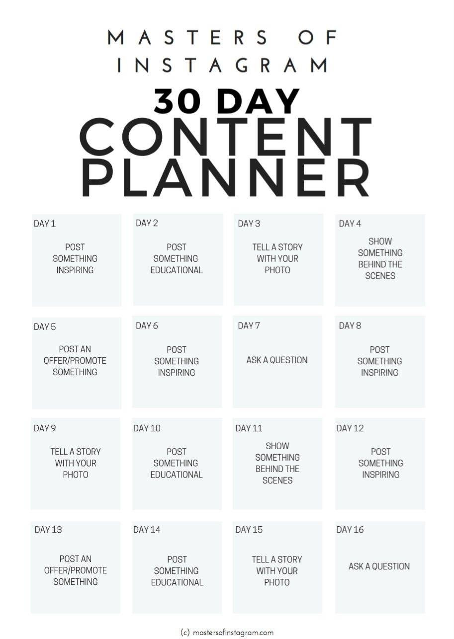 Collect 30 Day Calendar Online