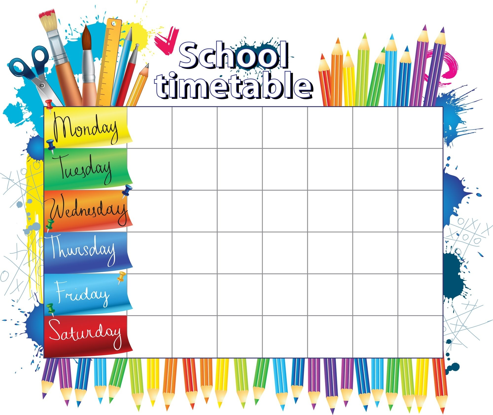Collect 5 Day School Timetable