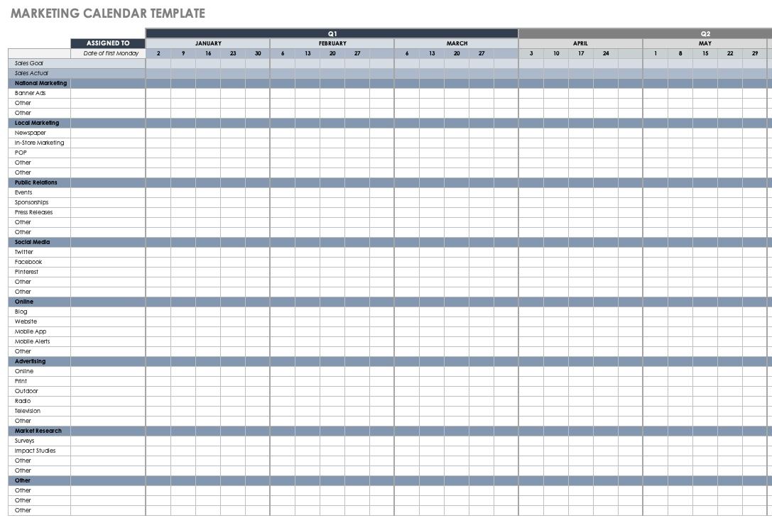 Collect 52Weak Calendar Excel