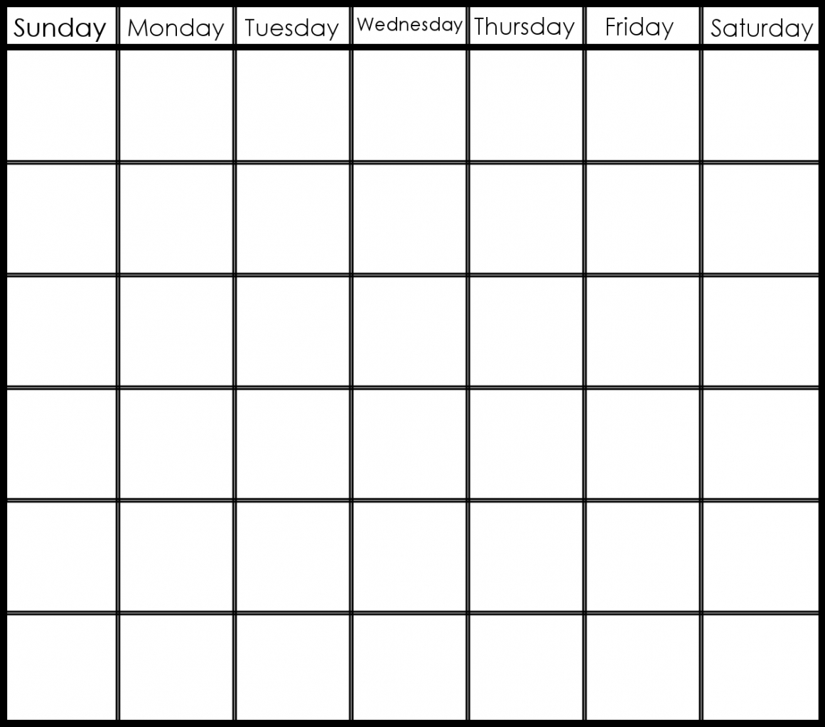 Collect 6 Week Blank Schedule Printable