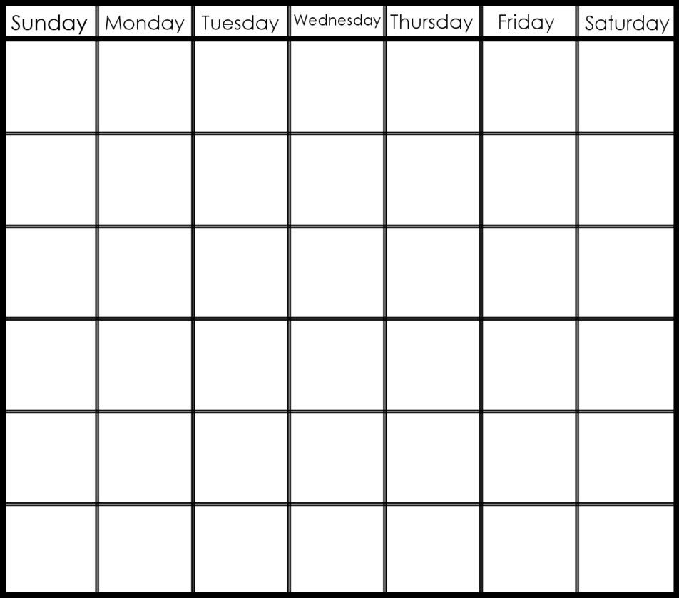 Collect 6 Week Blank Schedule Template
