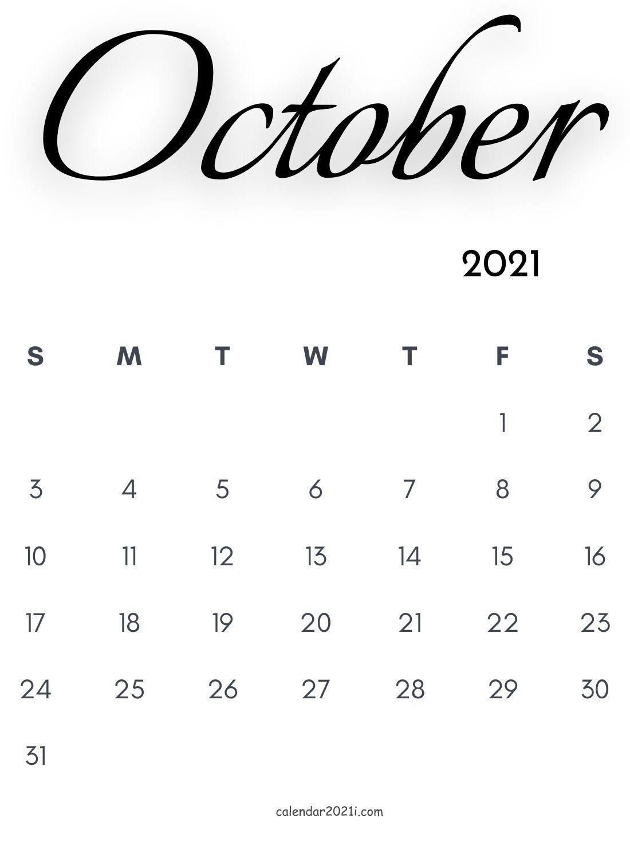 Collect 8.5 X 11 October 2021 Calendar