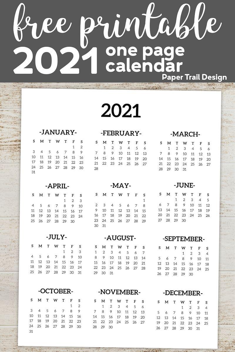 Collect 8 By 11 Printable Calendar 2021