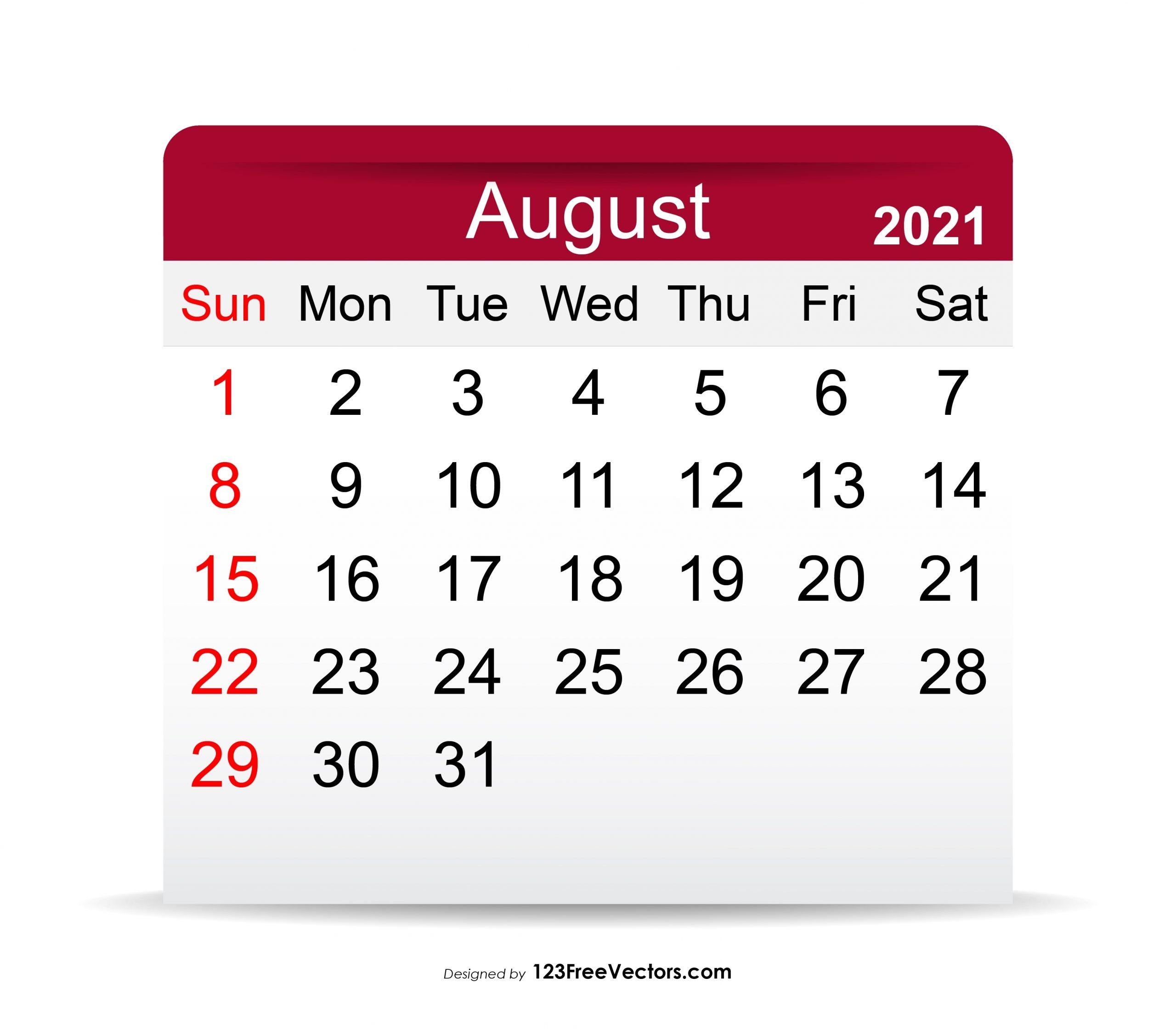 Collect Aug 2021 Calendar Festival