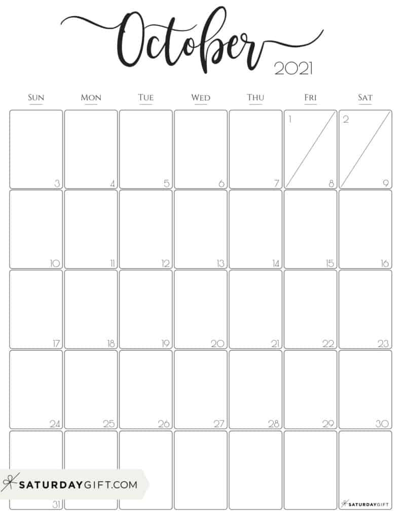 Collect Aug To Oct Calendars 2021