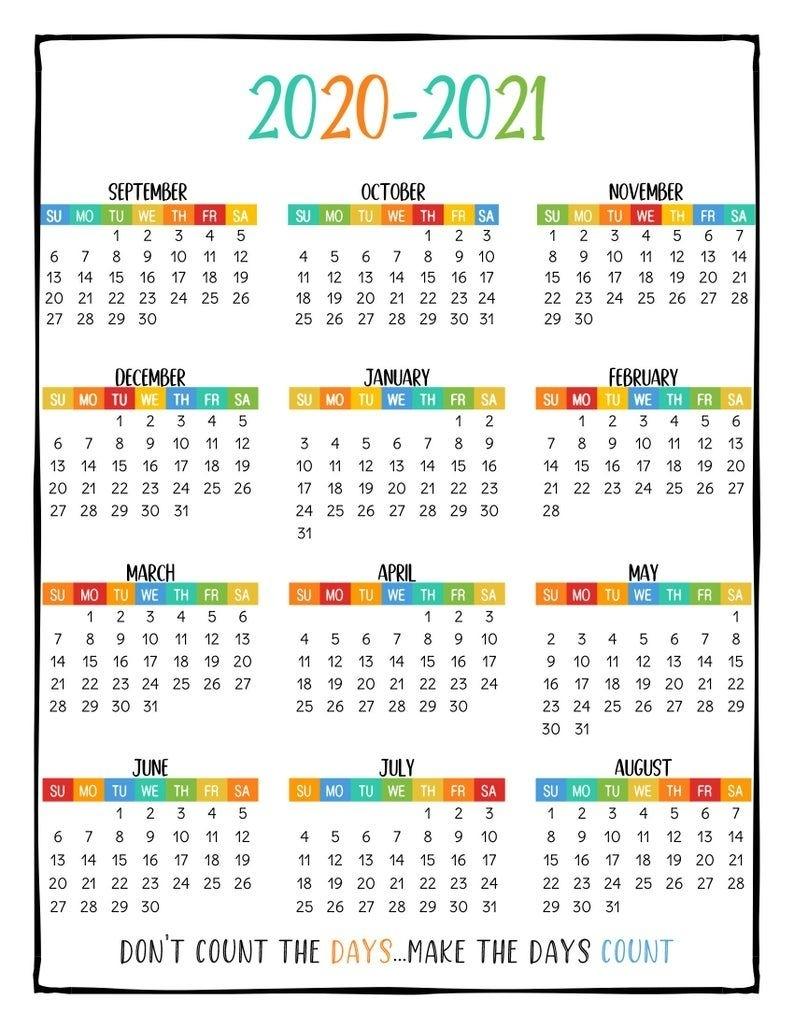 Collect August 2021 Calendar Printable Cute Homeschool