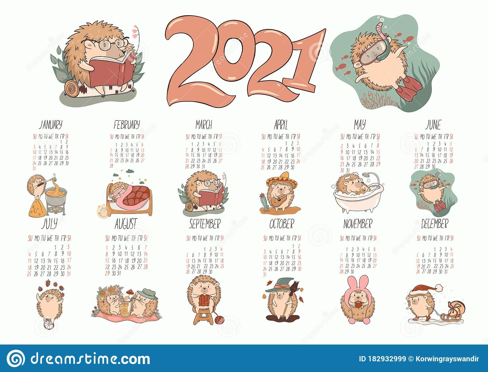 Collect August 2021 Clip Art