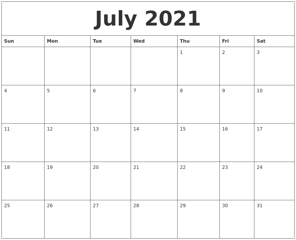 Collect August Calendar 2021 Printable Free