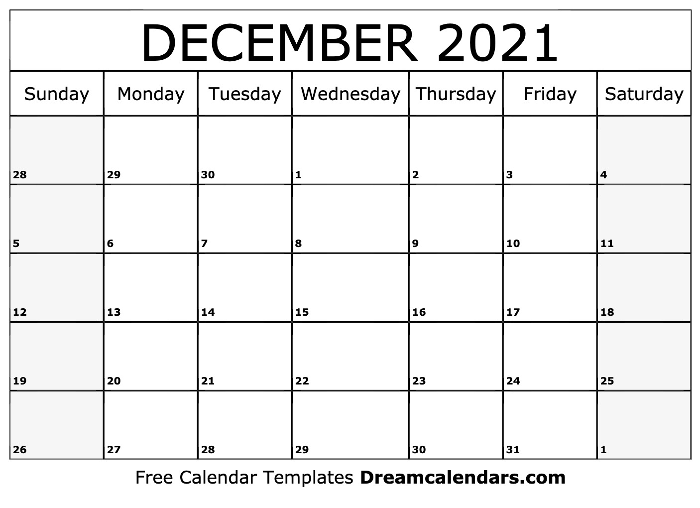 Collect August – December 2021 Calendar Printable