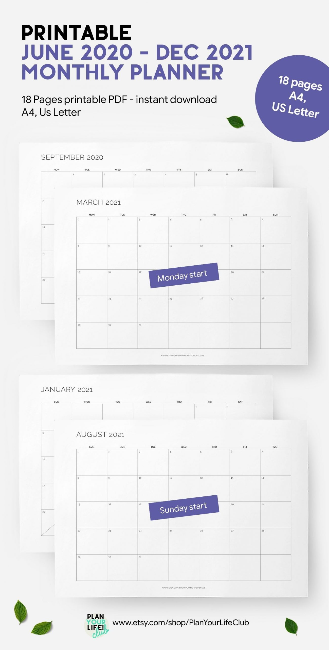 Collect August – December 2021 Planner