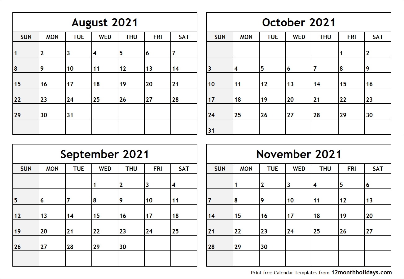 Collect August September October 2021