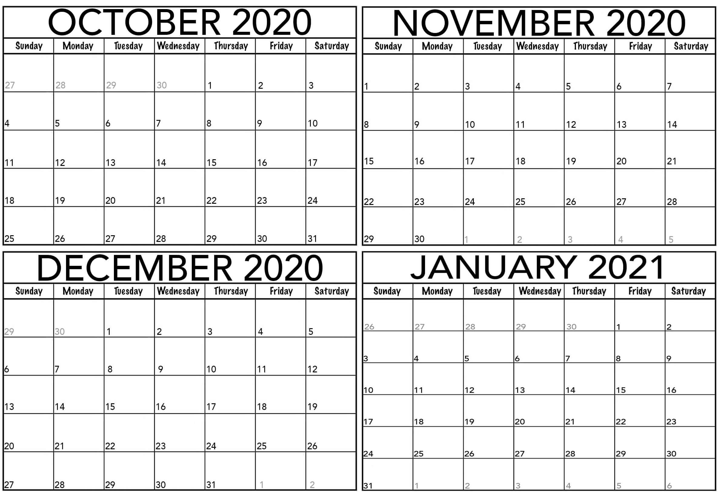 Collect August Through To October 2021 Editable Calendar