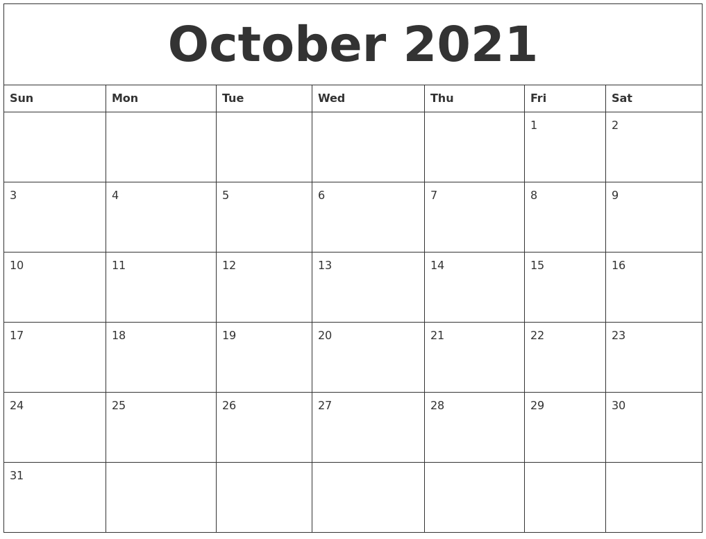 Collect August Through To October 2021 Editable Calendar