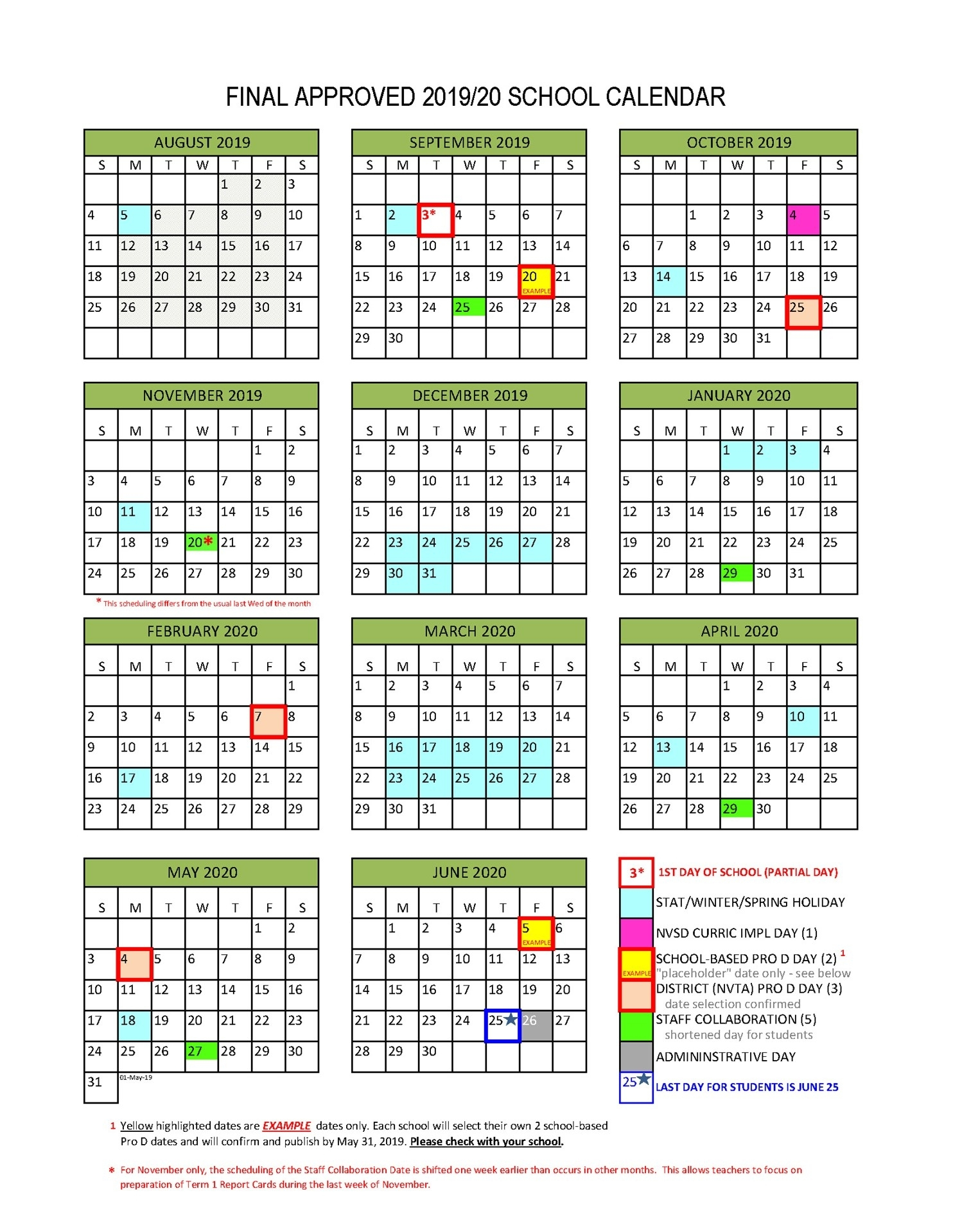 Collect Back To School August 2021 Calendar