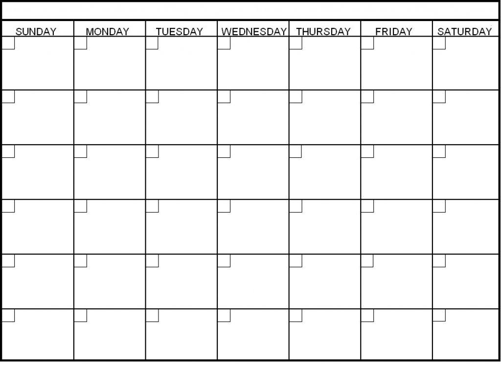 Collect Blank 6 Week Calendar