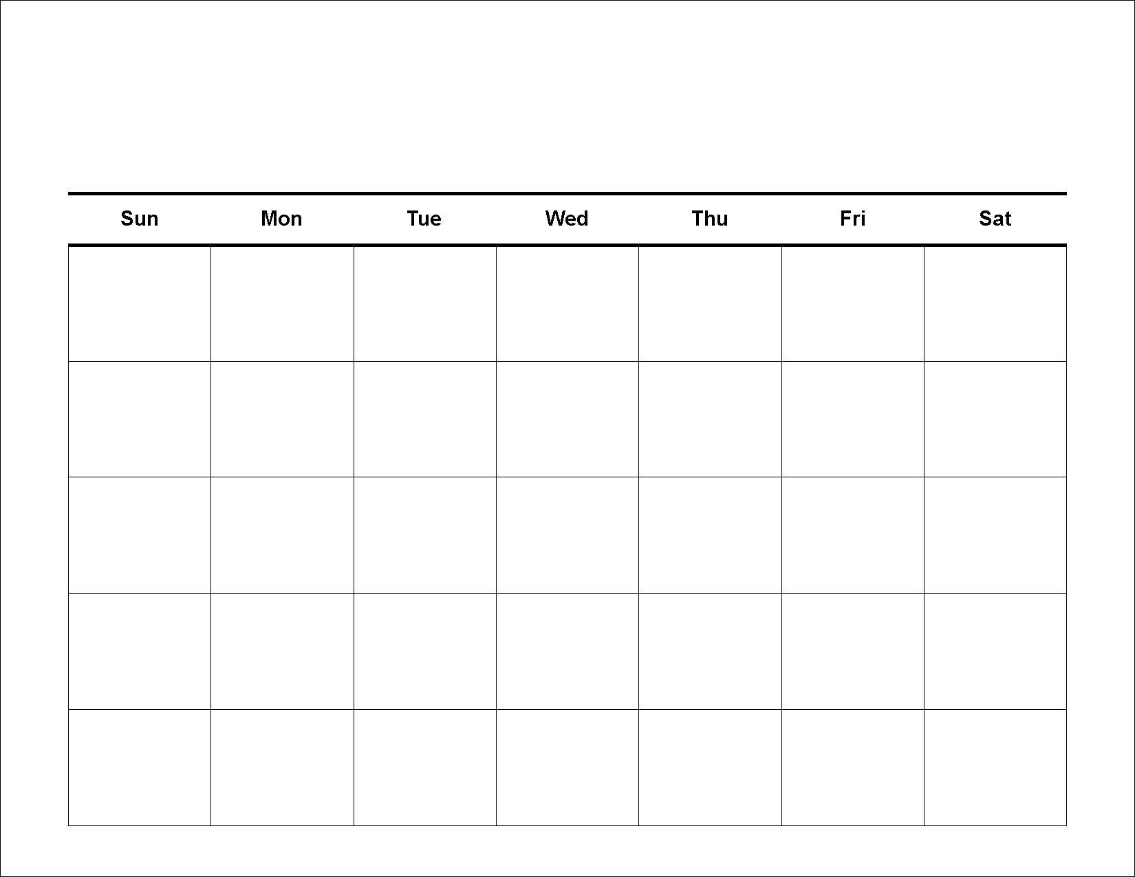 Collect Blank 8.5 X 11 Calendars
