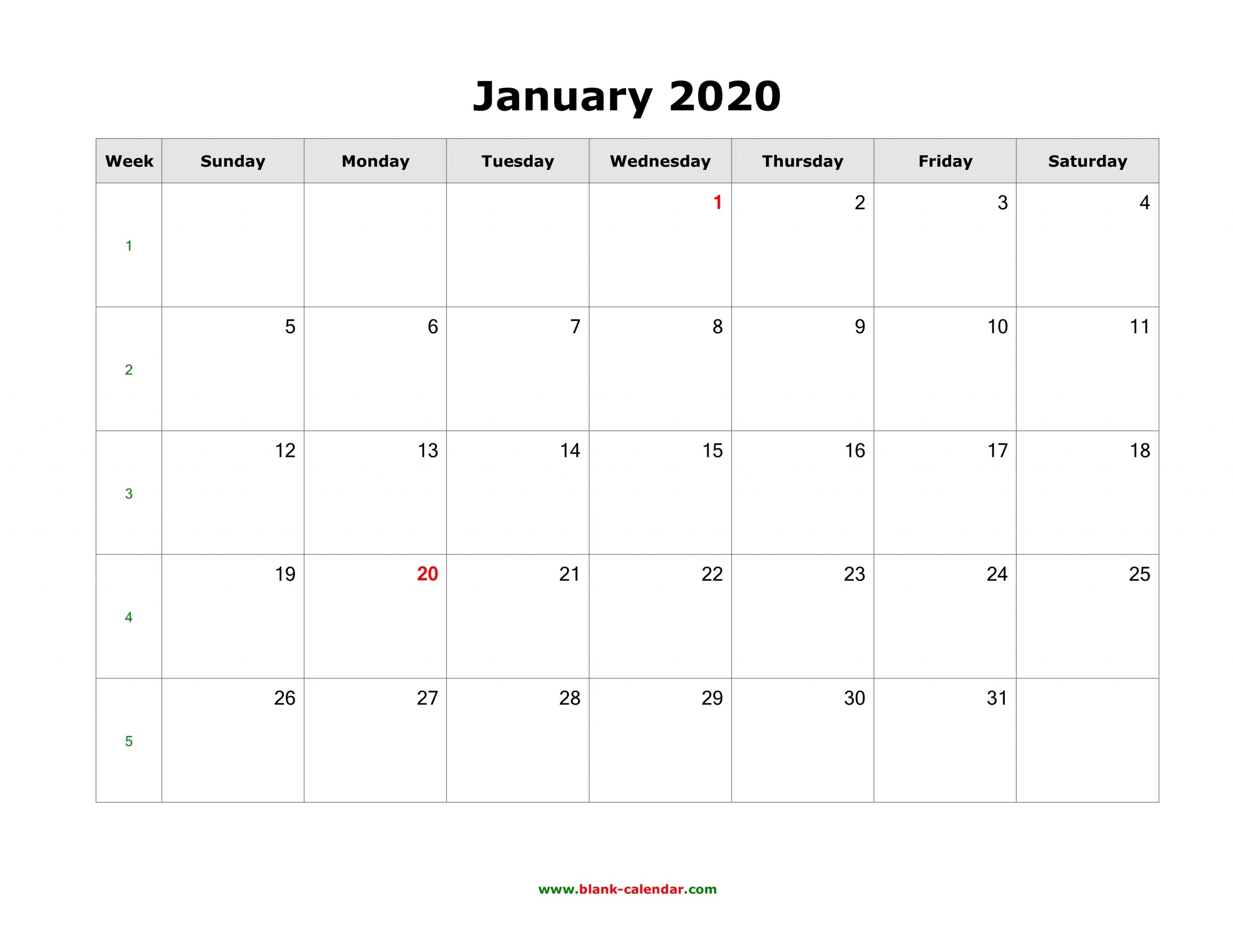 Collect Blank Monthly Calender Calender