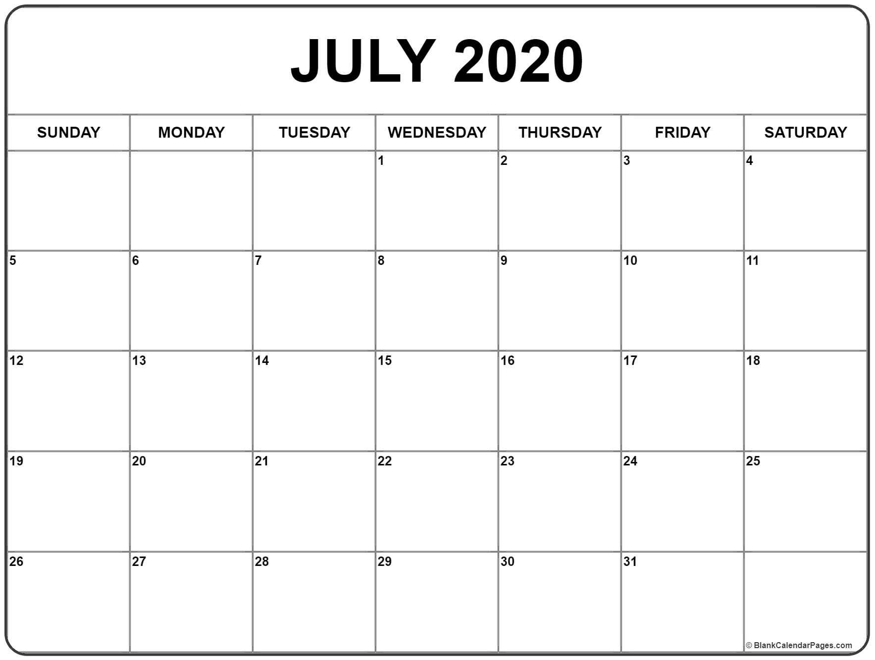 Collect Blank Printable Calender
