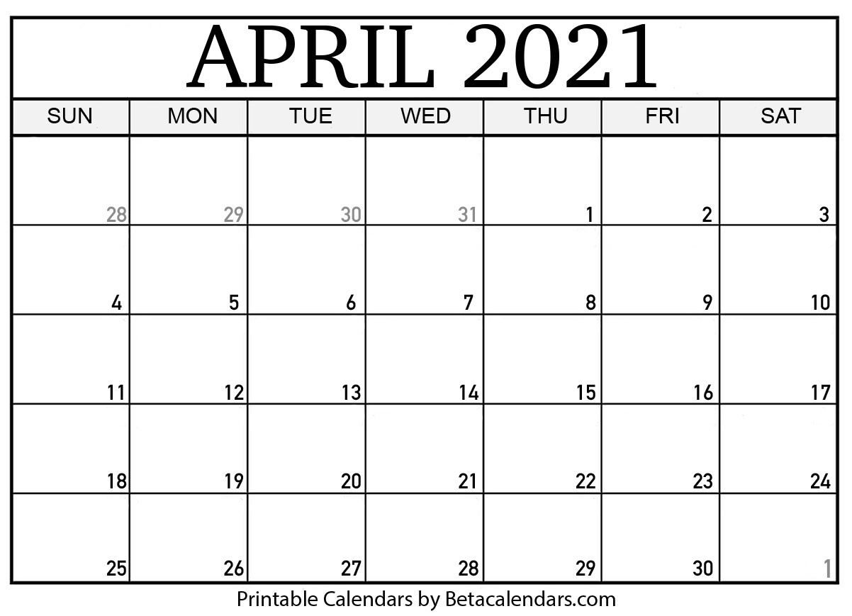Collect Calendar 1St April 2021 To 31St March 2021