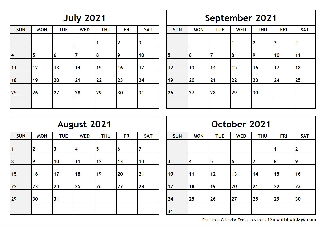 Collect Calendar 2021 August September October