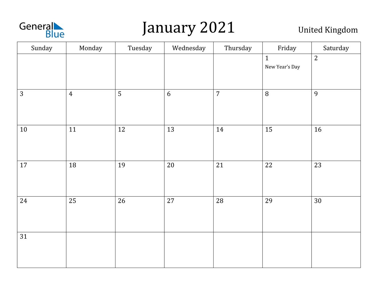 Collect Calendar 2021 Uk