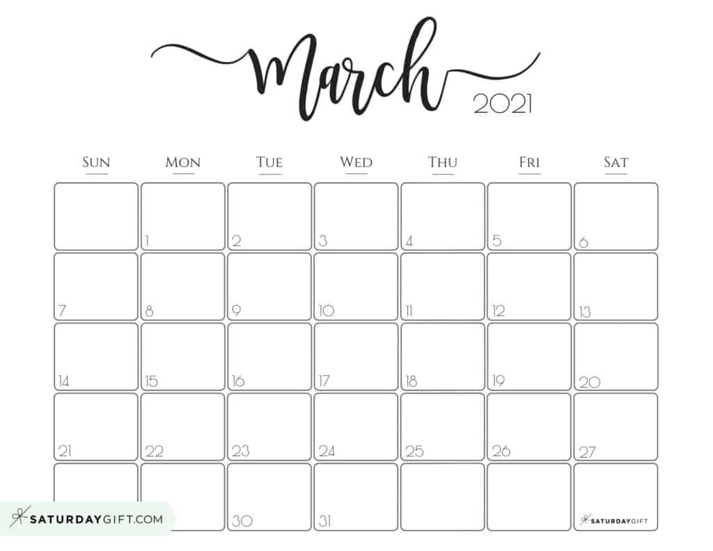 Collect Calendar April 2021 March 2021