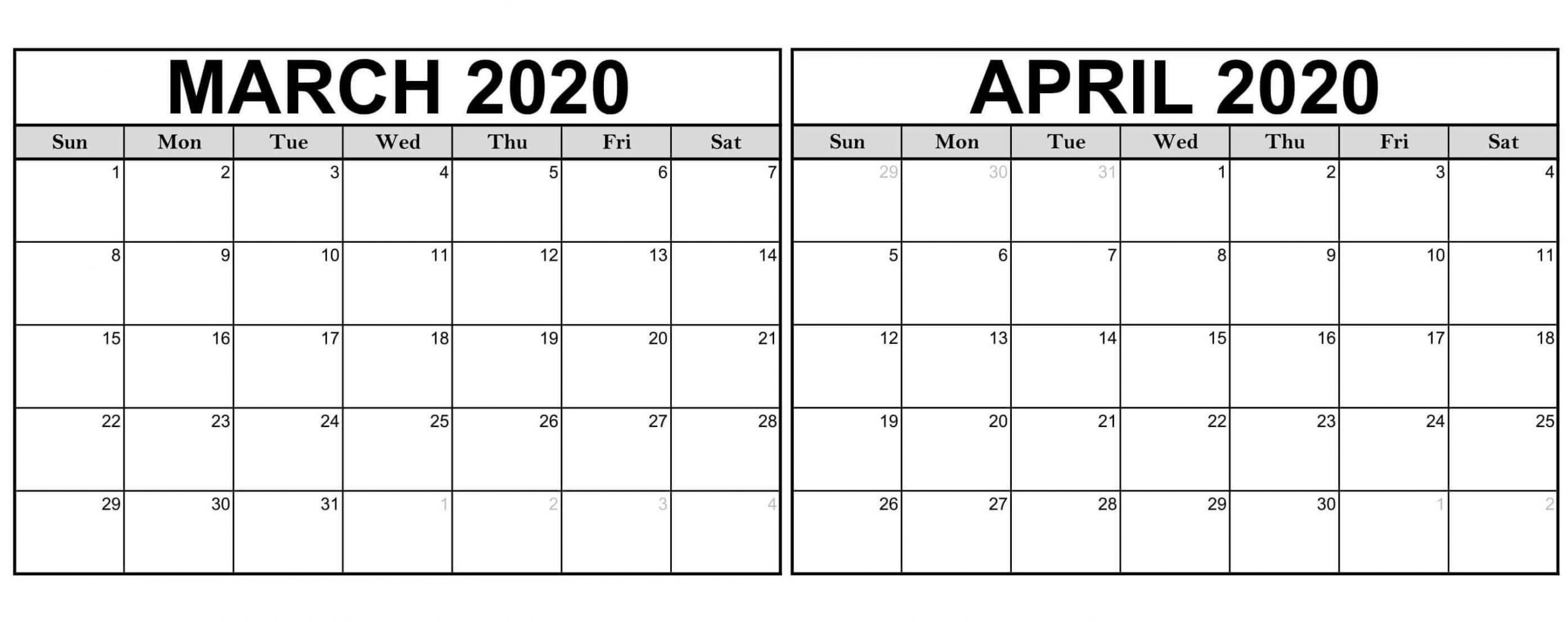 Collect Calendar April To March