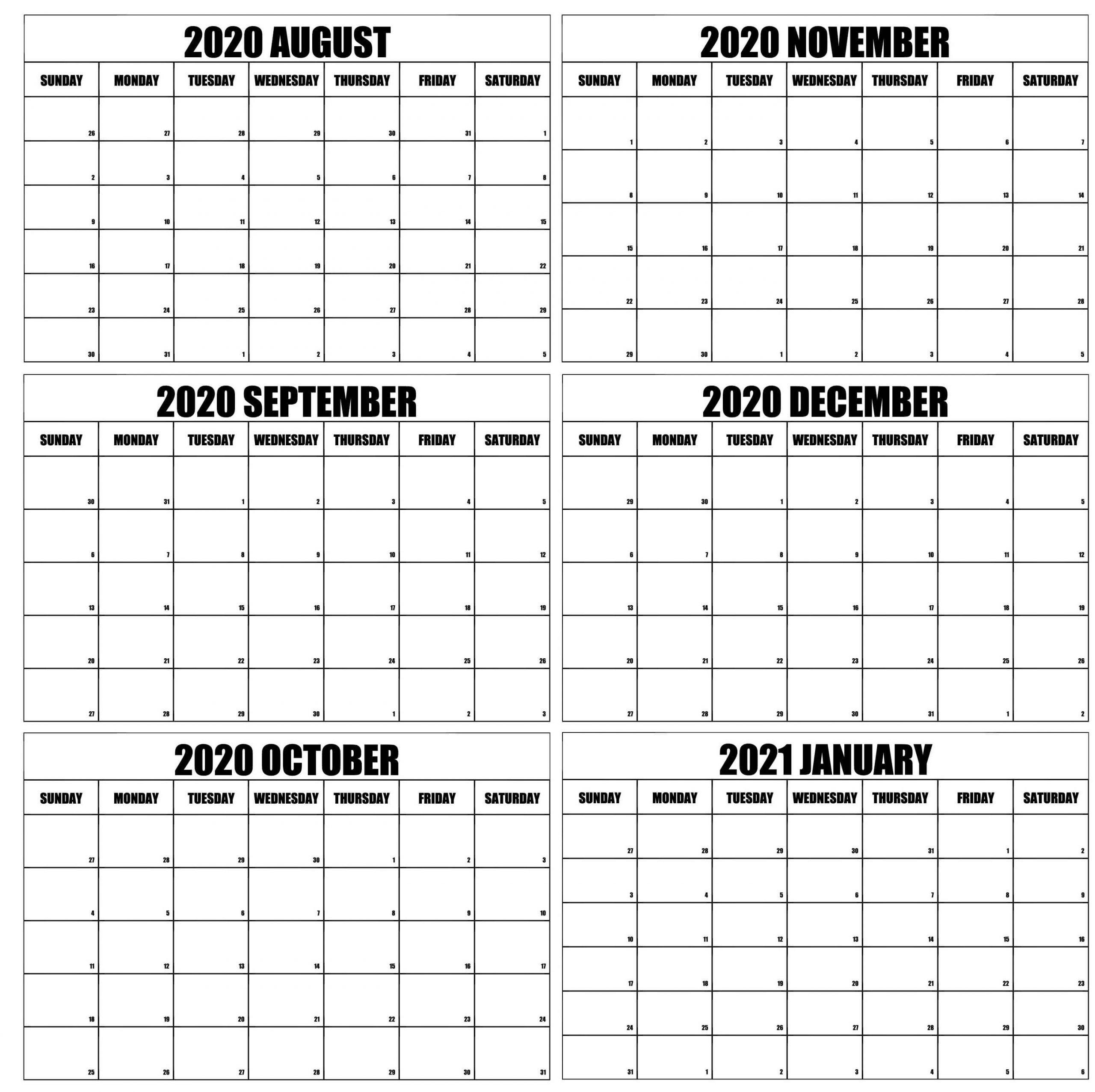 Collect Calendar August To December 2021