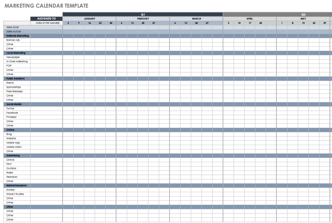 Collect Calendar Excel Weeks In Year