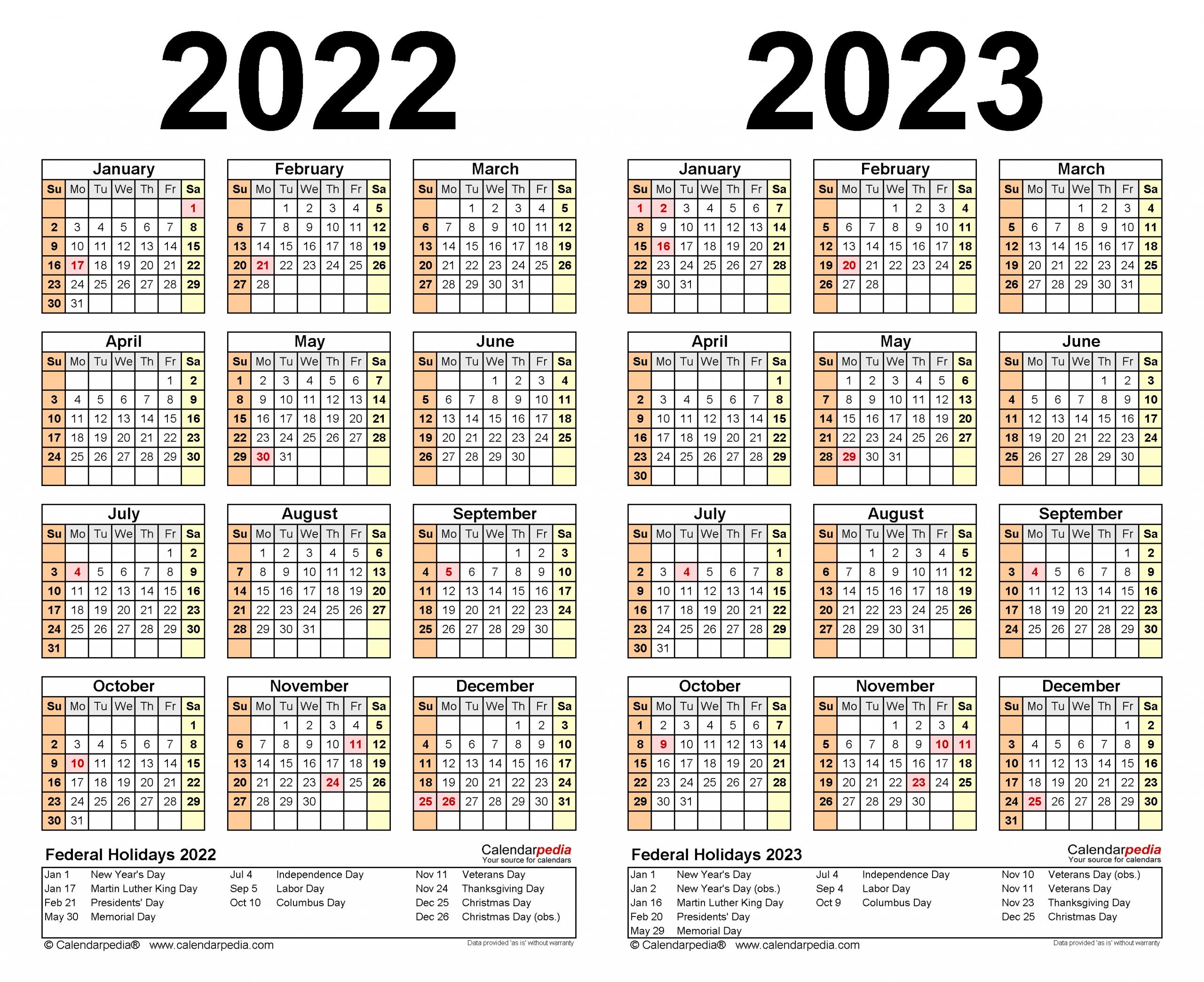 Collect Calendar For 2022 & 2023