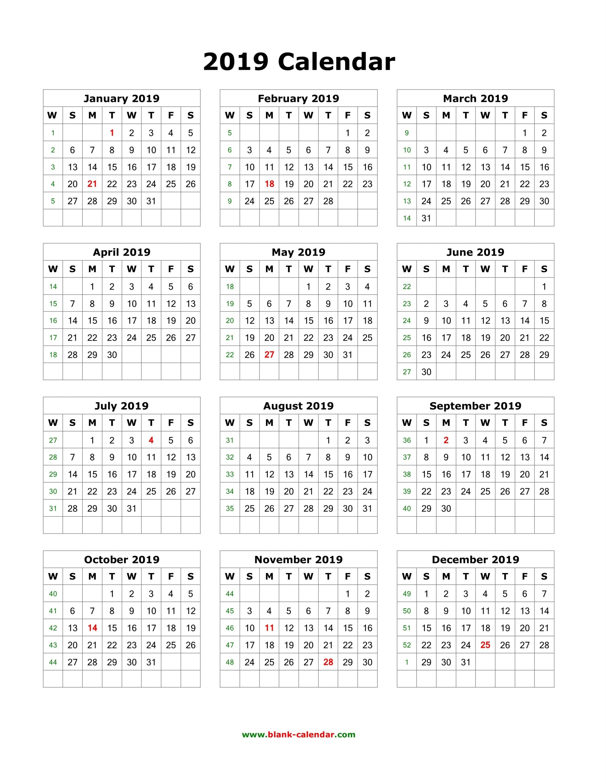 Collect Calendar For All 12 Months