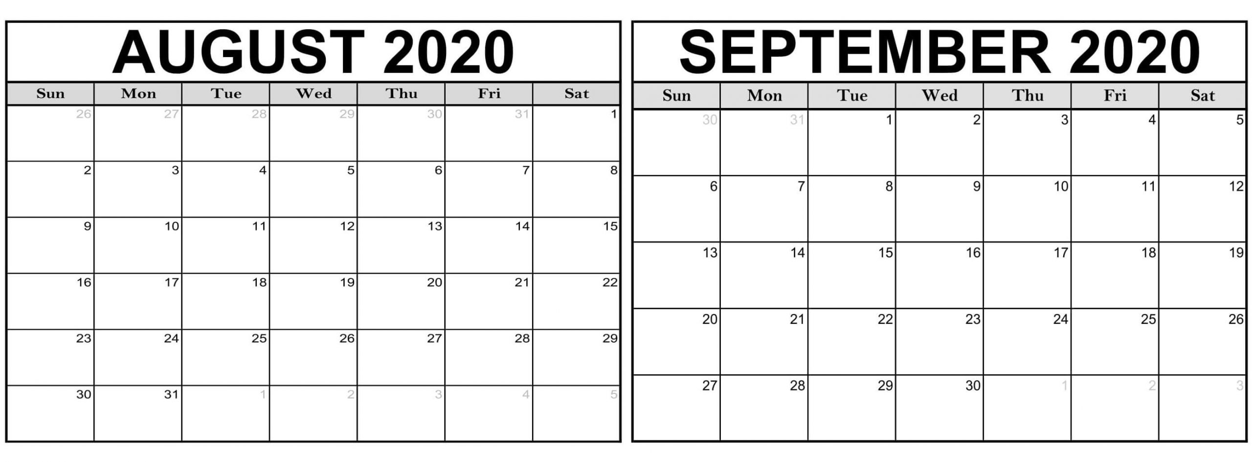 Collect Calendar For August And September